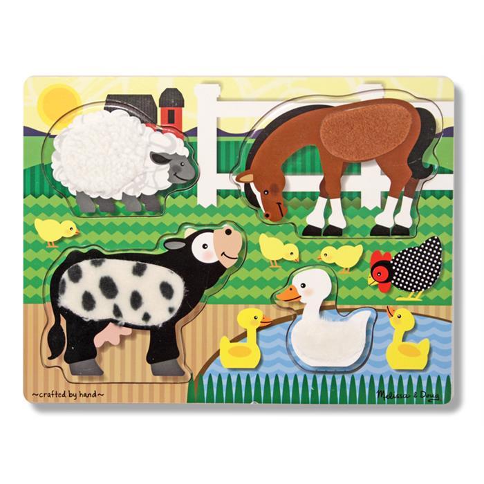 Melissa&Doug – Ahşap Dokun Hisset Yapboz – Çiftlik