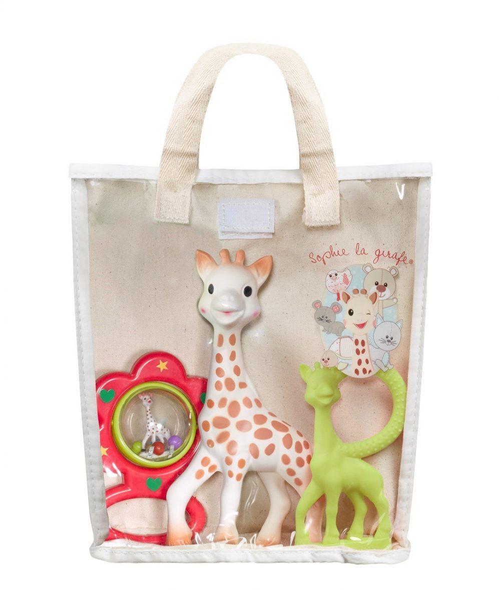 Sophie la Girafe Hediye Çantası Diş Kaşıyıcı + Çıngırak