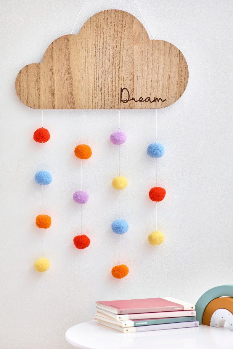 Çocuk Odası Rüya Bulutu Pom Pom Duvar Süslemeleri